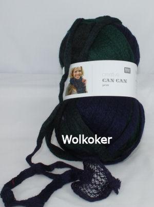 Can Can Print 010 groen paars zwart-0