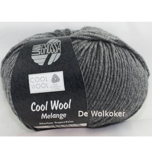 Merino Cool Wool melange 412 grijs