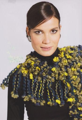 Fashion Loop 408 groen blauw geel-952