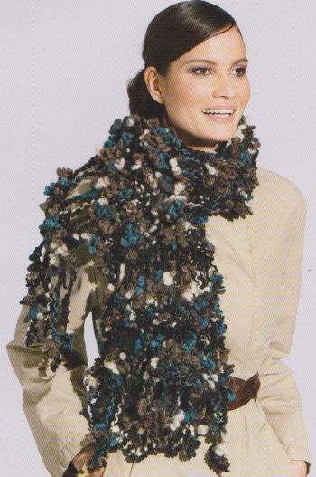 Fashion Loop 462 blauw beige-947