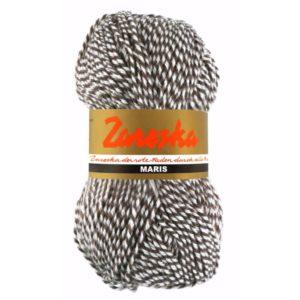 sokkenwol Zareska Maris 9976 bruin wit