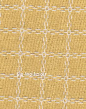 Beiersbont okergeel wit 5470, 160 breed (prijs per 10 cm)-0