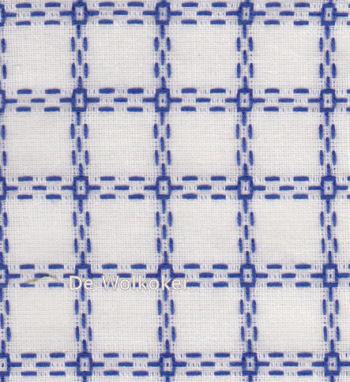 Beiersbont wit blauw 5400-12, 160 breed (prijs per 10 cm)-0