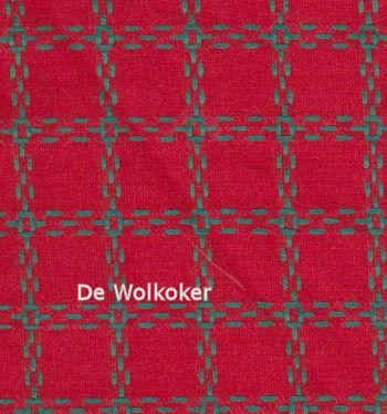 Beiersbont rood groen 5408, 160 breed (prijs per 10 cm)-0