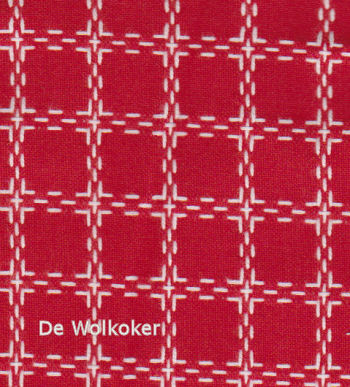 Beiersbont rood wit 5420, 160 breed (prijs per 10 cm)-0