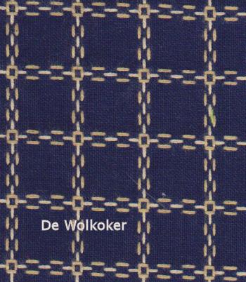Beiersbont donkerblauw ecru 5462-10, 160 breed (prijs per 10 cm)-0