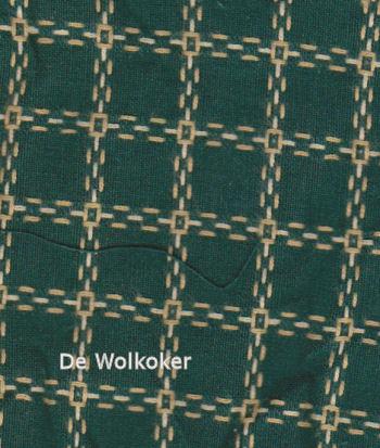 Beiersbont groen ecru 5463-10, 160 breed (prijs per 10 cm)-0
