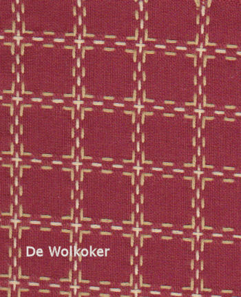 Beiersbont bordeaux ecru 5450-10, 160 breed (prijs per 10 cm)-0