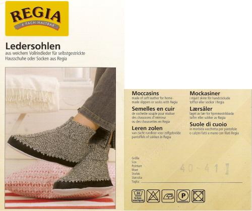 Leren zolen voor pantoffels of sokken, diverse maten-2386