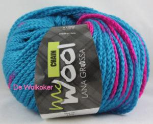 Chain 105 neonblauw roze-0