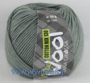 Mc Wool 130 cotton mix 129 grijsgroen-0