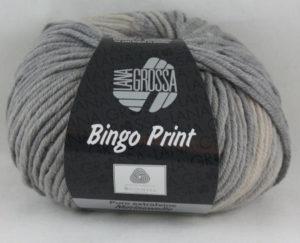 Bingo print 623 beige grijs-0