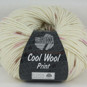 Merino Cool Wool print 804 ecru roze-0