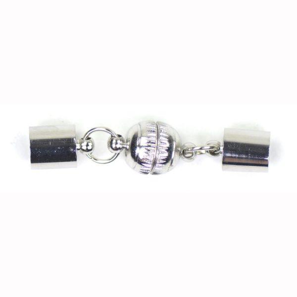 Kumihimo magneetsluiting met eindkap 8 mm 1019