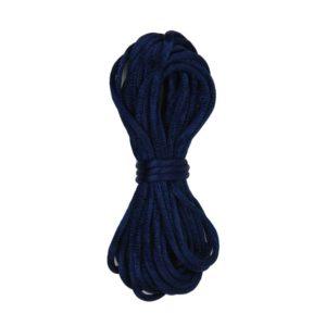 Kumihimo satijnkoord 210 donkerblauw