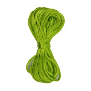Kumihimo satijnkoord 6547 neon groen