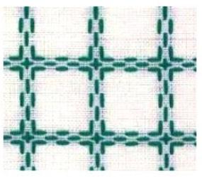 Beiersbont wit groen 5400-13, 160 breed (prijs per 10 cm)-0