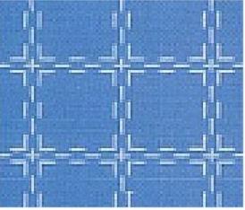 Beiersbont middelblauw wit, 160 breed (prijs per 10 cm)-0