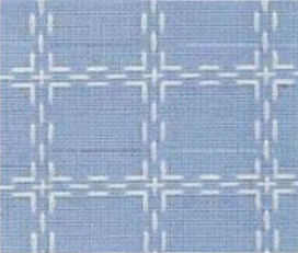 Beiersbont zachtblauw wit 5443, 160 breed (prijs per 10 cm)-0