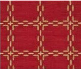 Beiersbont warmrood ecru 5465-10, 160 breed (prijs per 10 cm)-0