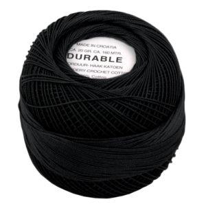 Durable Borduur- en Haakatoen zwart 1001-0