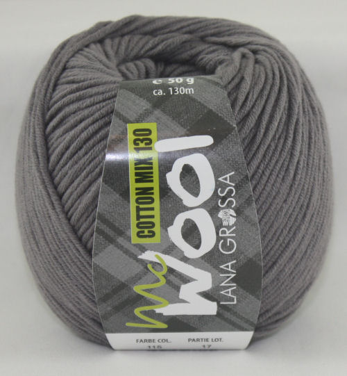 Mc Wool 130 cotton mix 115 grijs-0