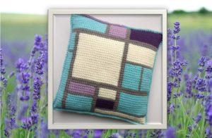 Mondriaan Cosy Kussen Lavender Field-0