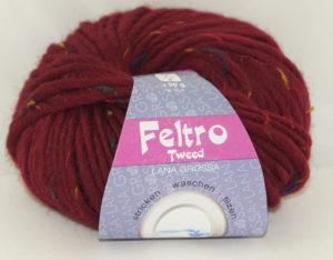 Feltro Tweed 654 bordeaux lana grossa