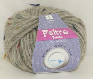 Feltro Tweed 656 grijs lana grossa