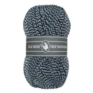 Durable Norwool Plus M00235 blauw wit donkerbl-0