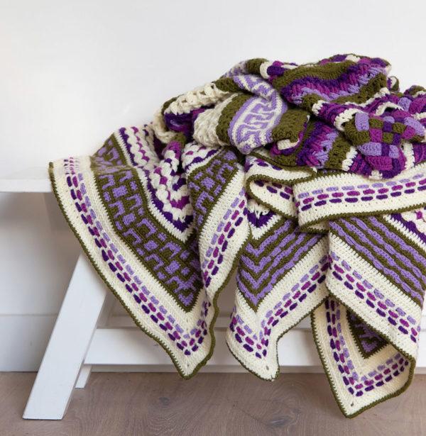Cal 2019 Complications; Purple it is Rechthoek 175 x 205 cm van Bravo-0