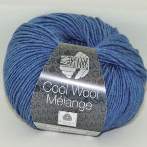 Merino Cool Wool melange 157 jeansblauw