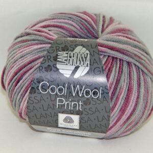 Merino Cool Wool print 815 roze grijs bordeaux