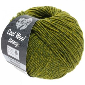 Merino Cool Wool melange 140 olijf donkerolijf