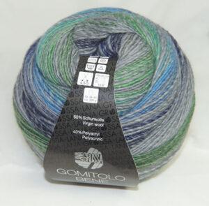 Gomitolo Bene 754 grijs/groen/blauw