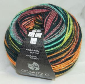 Gomitolo Bene 756 turquoise/groen/oranje