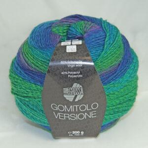 Gomitolo Versione 423 zeegroen/blauw/violet