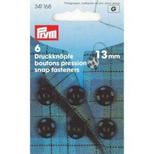 Drukkers 13 mm zwart Prym 341 168
