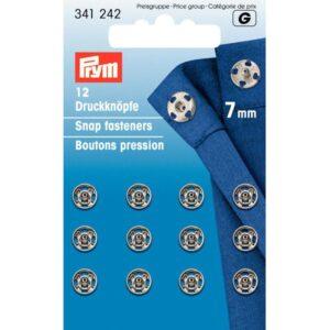 Drukkers 7 mm zilver Prym 341 242