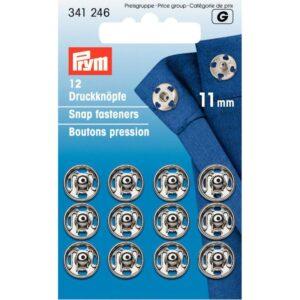 Drukkers 11 mm zilver Prym 341 246