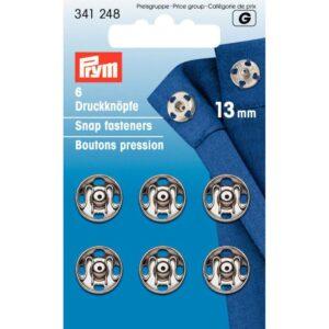 Drukkers 13 mm zilver Prym 341 248