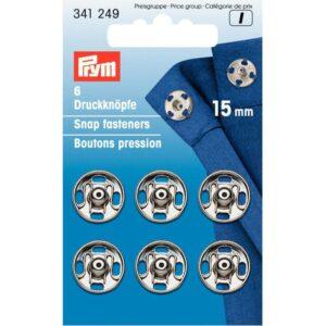 Drukkers 15 mm zilver Prym 341 249