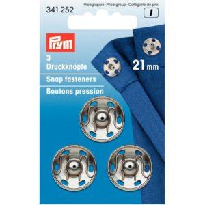 Drukkers 21 mm zilver Prym 341 252