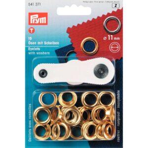 Ring en Schijf 11 mm goud Prym 541 371