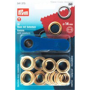 Ring en Schijf 14 mm goud Prym 541 373