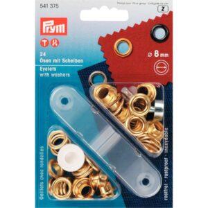 Ring en Schijf 8 mm goud Prym 541 375