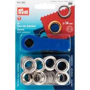 Ring en Schijf 14 mm zilver Prym 541 383