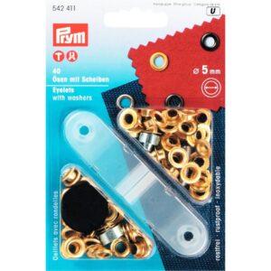Ring en Schijf 5mm goud Prym 542 411