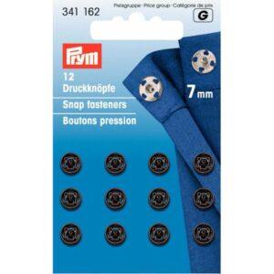 Drukkers 7 mm zwart Prym 341 162
