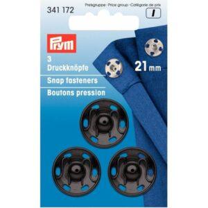 Drukkers 21 mm zwart Prym 341 172